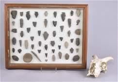 Mounted Arrowhead Collection