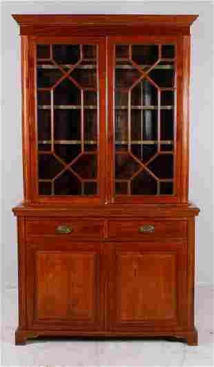 Mahogany 2-pc china cabinet