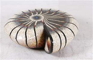 Massimiliano Beltrame, mosaic sculpture of snail