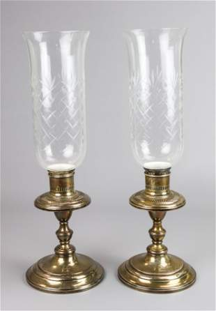 Pair of Weighted Sterling Candlesticks