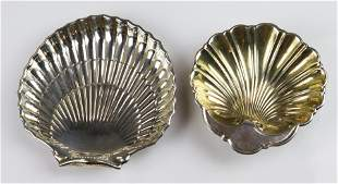 (2) Gorham Sterling Shell Shaped Dishes