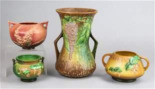 (4) Pcs Roseville Pottery