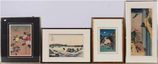 (4) Hokusai Japanese Woodblock Prints