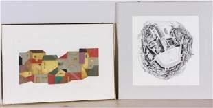 (2) John Ross & Joseph Aronson Prints