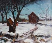 Ethel M Gilmore Winter Landscape Painting