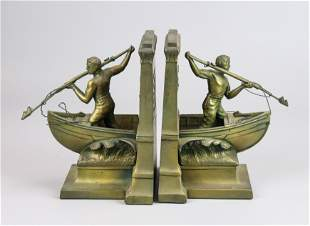 Pr Jennings Bros New Bedford Whaleman Bookends