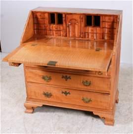 PA Maple Chippendale Slant Front Desk, 18th c