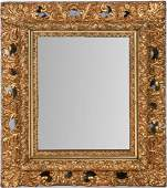Italian style gilt painted hanging wall mirror