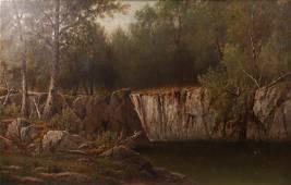 Charles Wilson Knapp River Landscape Painting