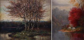 (2) 19th C Landscape Paintings