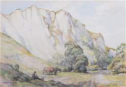 William Ongley Miller English Landscape Watercolor