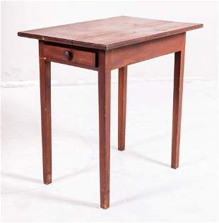 Pine one drawer work table