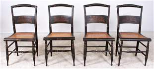 (4) Hitchcock style chairs