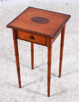 Sheraton Cherry and Mahogany 1 Drawer Stand