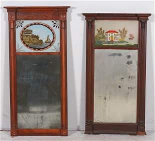 (2) Mahogany Sheraton wall mirrors