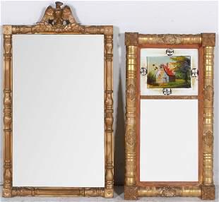 (2) Gilt framed Federal wall mirrors