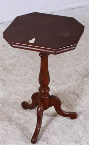 English Victorian mahogany candle stand