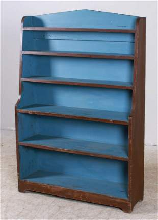 Modern Softwood painted display shelf