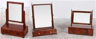 (3) Mahogany dressing mirrors