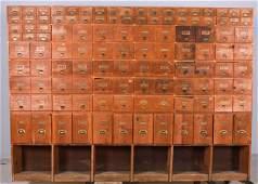 Pine hardware store cabinet