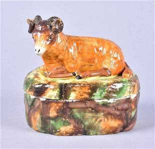 19th C Continental Porcelain Covered Box