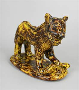 Redware figure of Lion