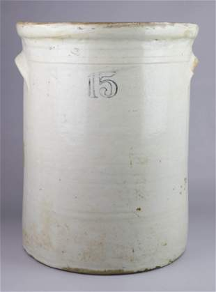 15-Gallon Stoneware Pottery Crock