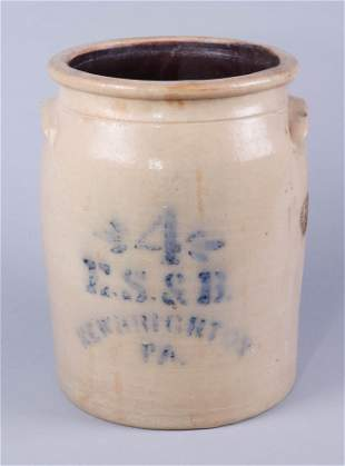 ES&B 4-Gallon Stoneware Crock