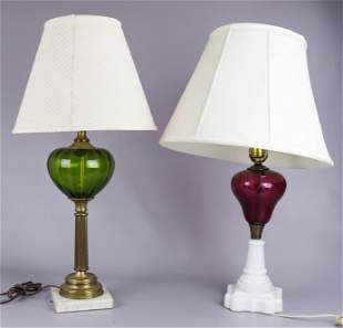 (2) Converted Oil Lamps
