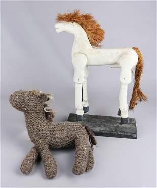 (2) Horse Toys