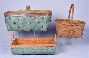 (3) Gathering Splint Baskets