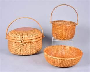 (3) Nantucket Baskets