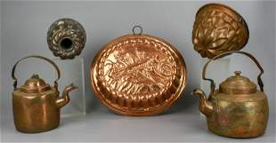 (5) Copper Teapots and Molds