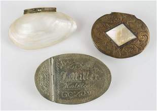 (3) Trinkets and Snuff Boxes