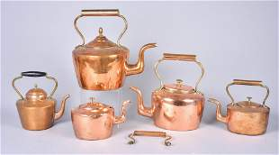 (5) Copper Tea Kettles