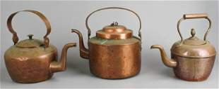 (3) Copper Tea Kettles