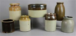 (7) Stoneware Crocks & Jars