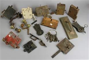 Large Lot of Door Locks, Door Knobs & Keys