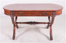 French style inlaid one drawer desk