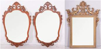 (3) Italian style hanging wall mirrors