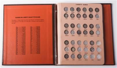 Complete Set Barber Dimes VG-AU