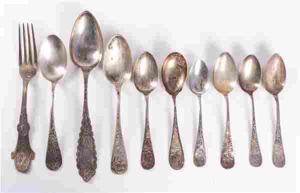 (10) Pcs Sterling & Coin Silver Flatware