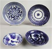 (4) Blue Decorated Earthenware Bowls