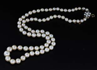 9CT. Victorian Cultured Pearl Necklace