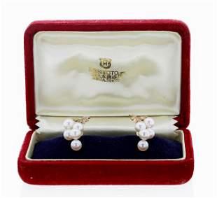 Mikimoto Pearl Earrings In Box
