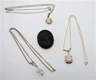 Cameo Necklaces and Brooch