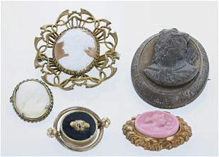 (5) Vintage and Antique Brooches