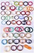 (61) Large Collection Of Bangle Bracelets