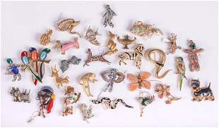 (29) Collection of Whimsical Brooches and Pins