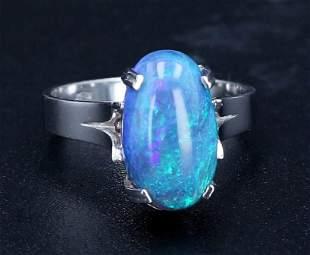 18K White Gold Opal Ring